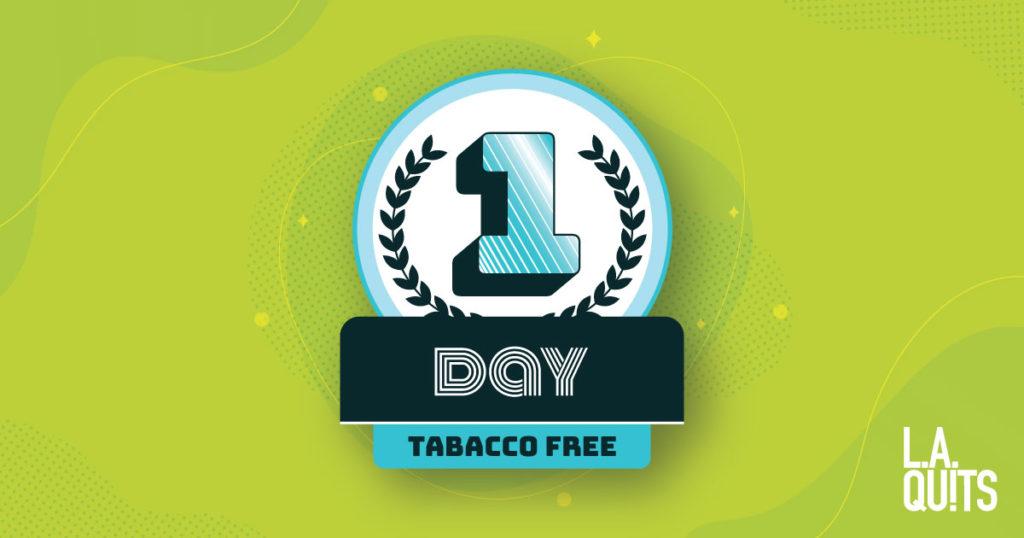 1 day tobacco free
